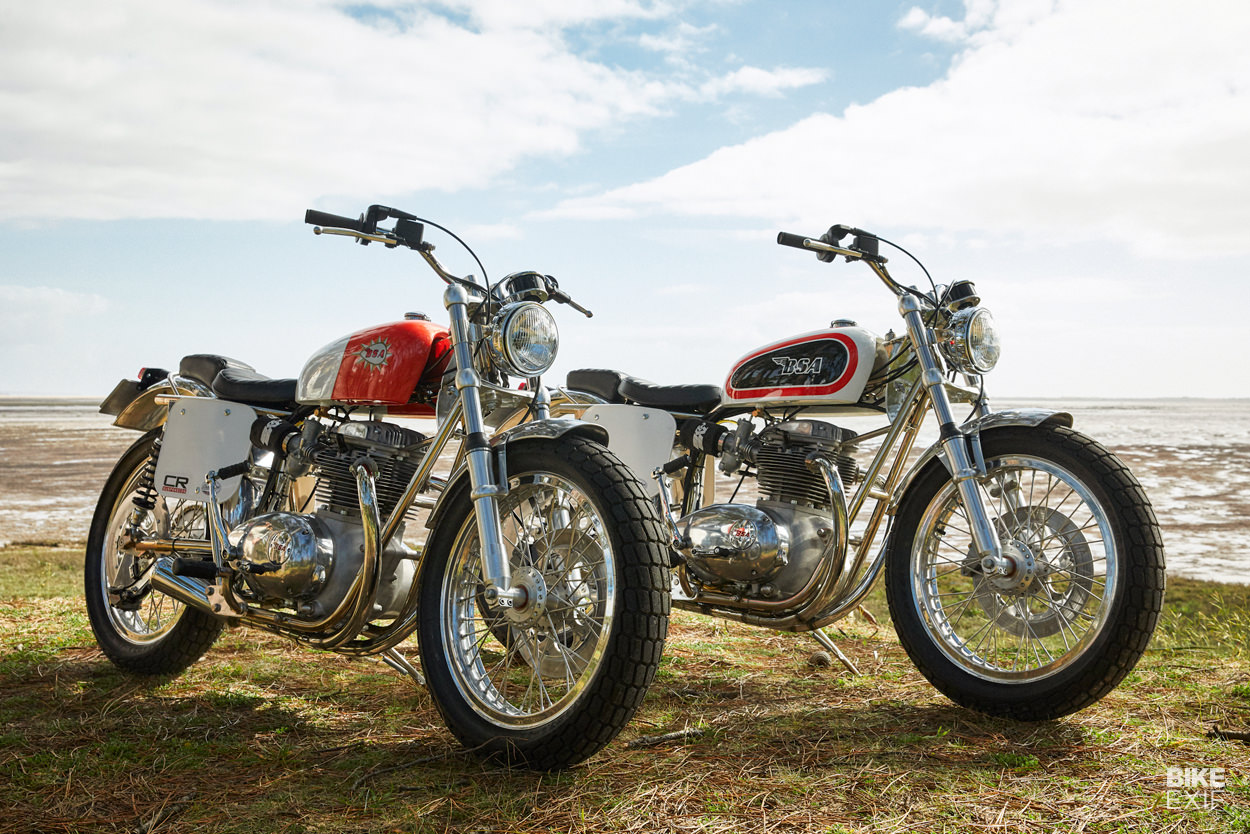 New BSA street tracker motorcycles from Atelier Chatokhine