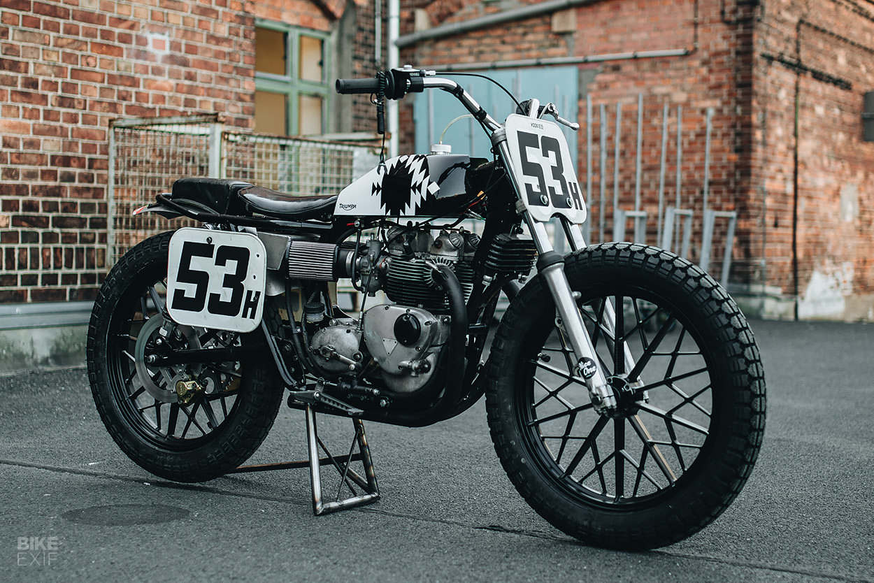 1967 Triumph T100R flat tracker by Hookie Co.