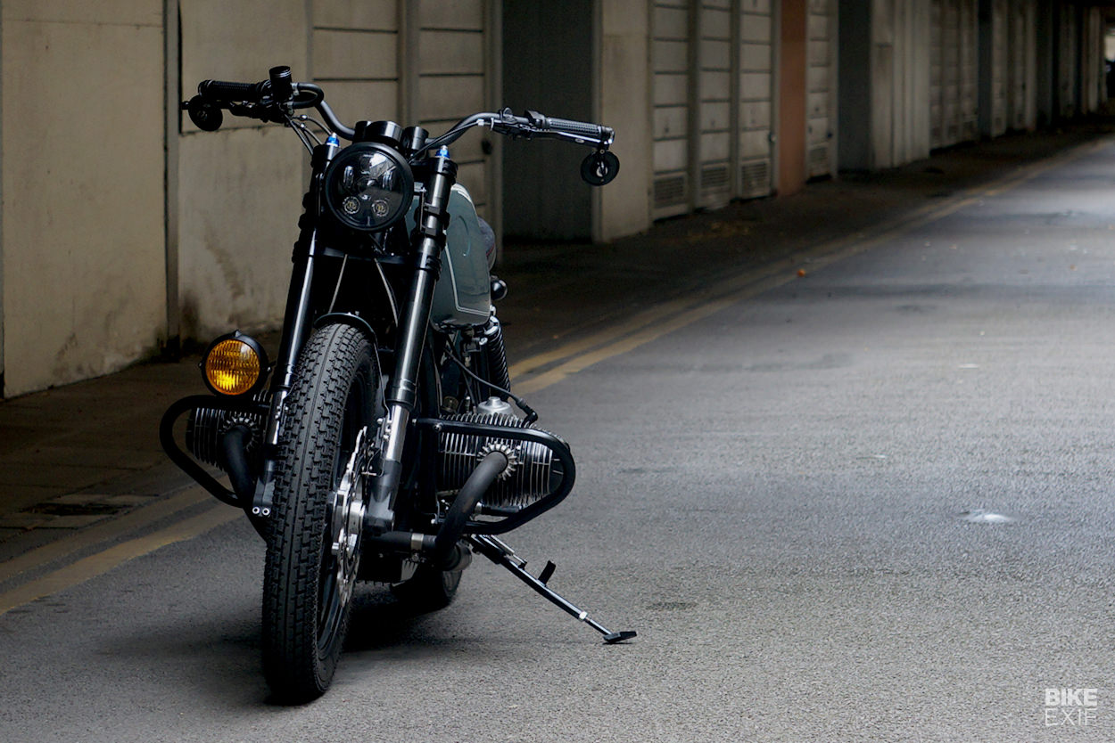 Dark Matter: A blacked-out, bobber-style BMW R80 from Untitled