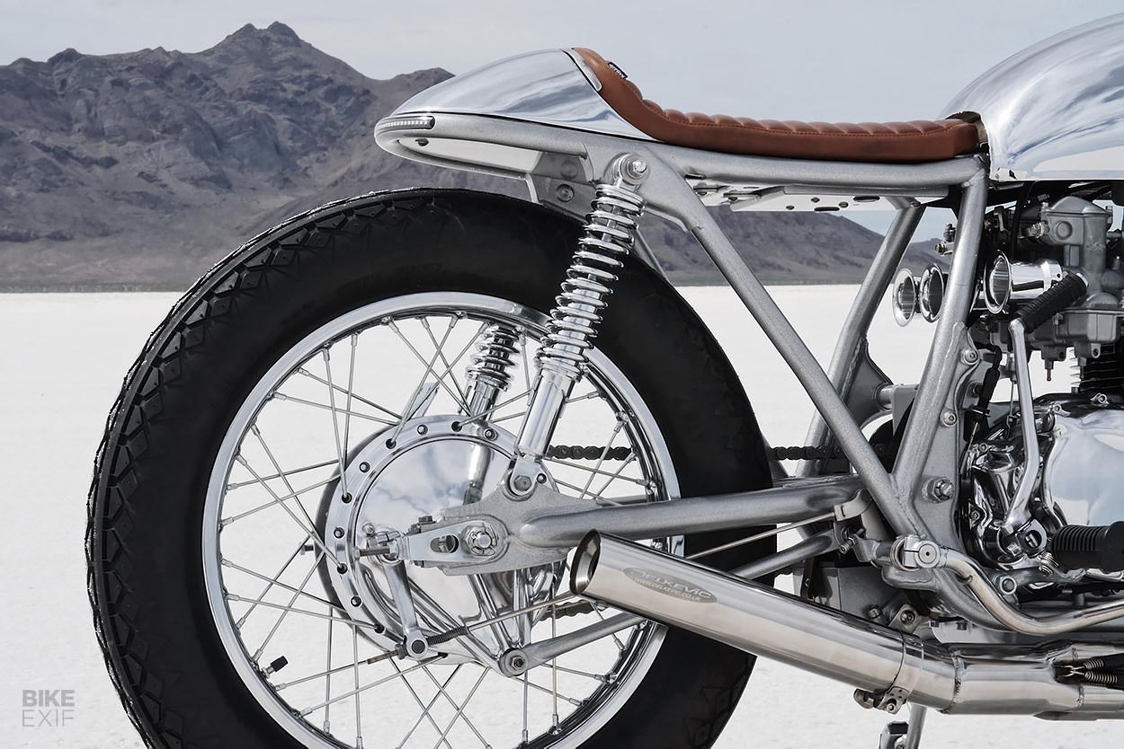 A Honda CB550 cafe racer from Thirteen & Company