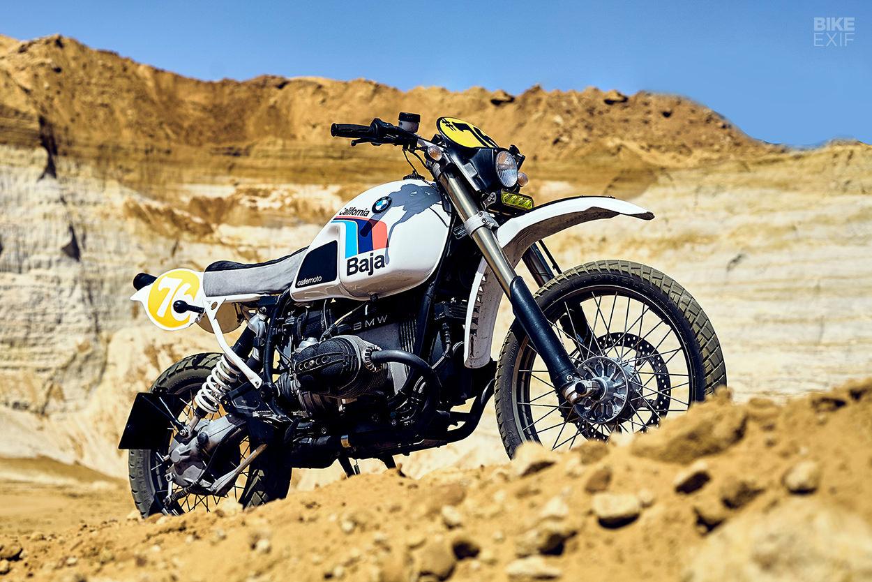 Custom BMW R100GS 'Baja-California' by Cafemoto