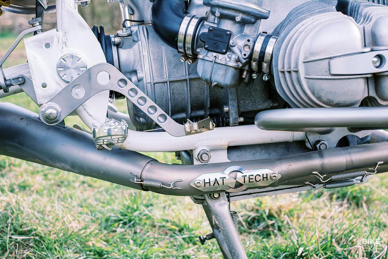 A Rickman Metisse-inspired custom BMW R80 scrambler