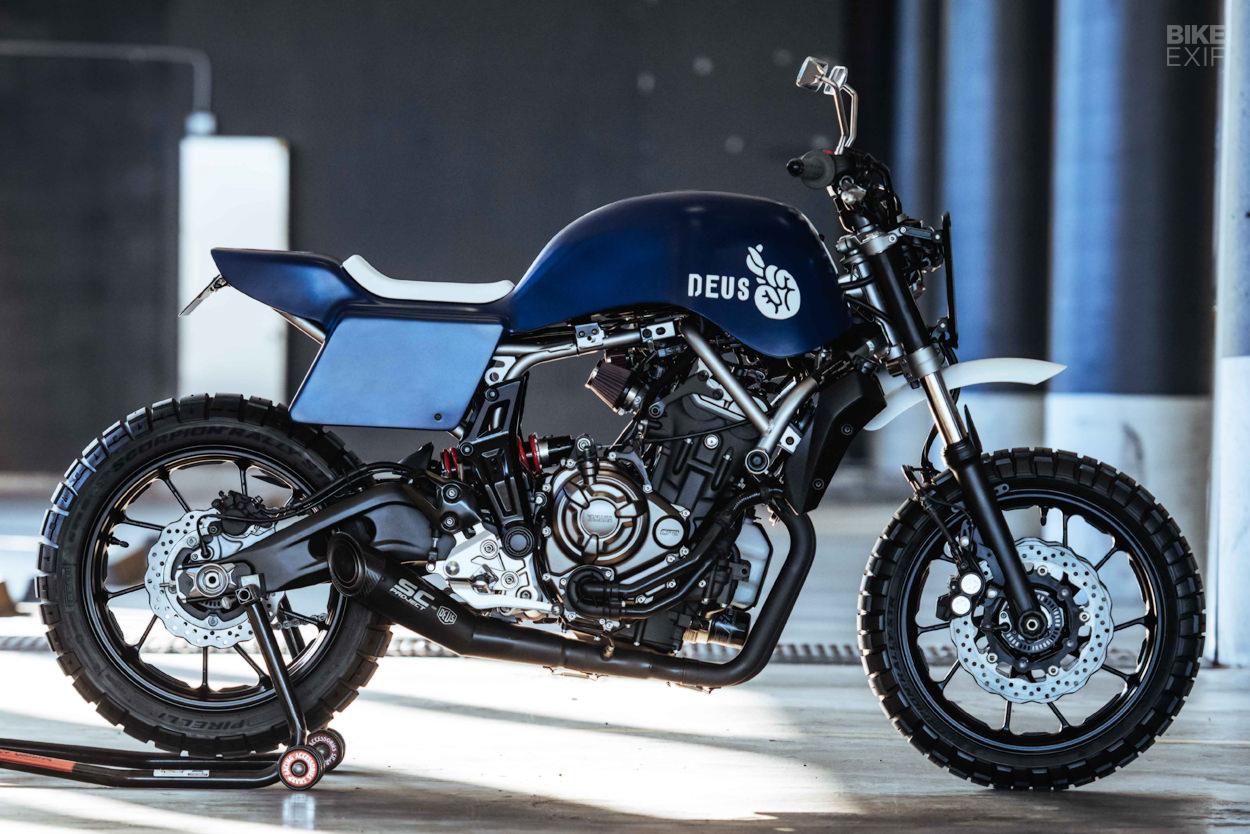 Deus mods the Yamaha MT07 with a sharp new custom kit