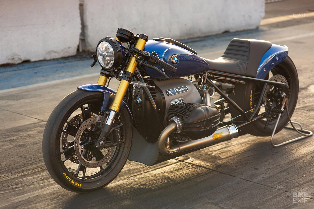 Custom BMW R18 drag bike by Roland Sands