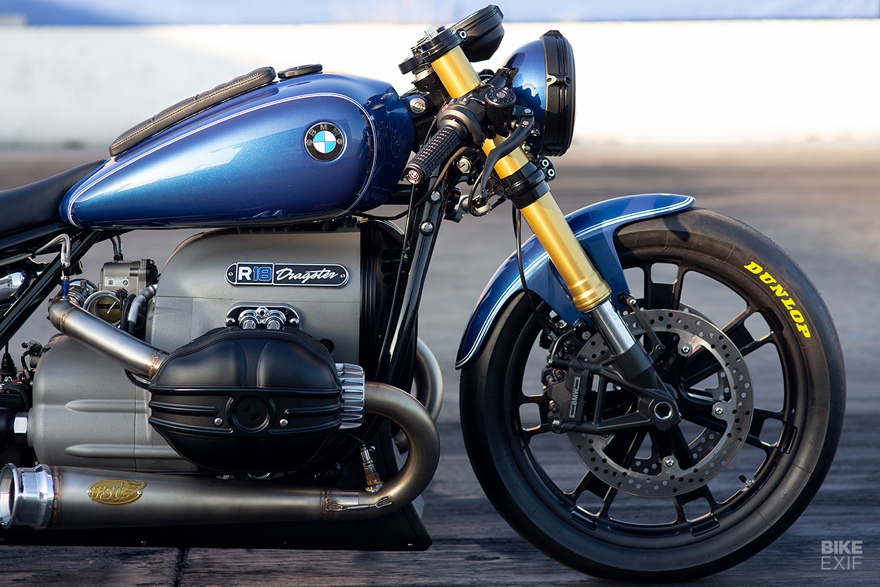 Custom BMW R18 drag bike by Roland Sands