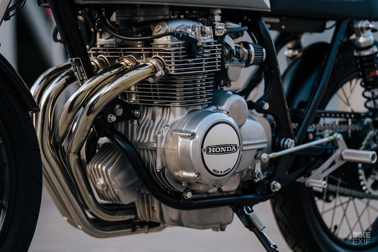 Honda CB400F cafe racer by Mokka Cycles