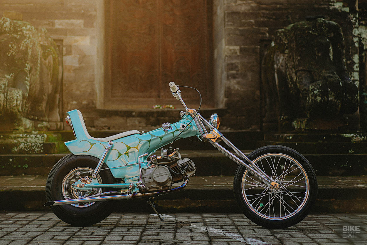 Custom Honda Dax chopper by Zambrag Garage in Bali