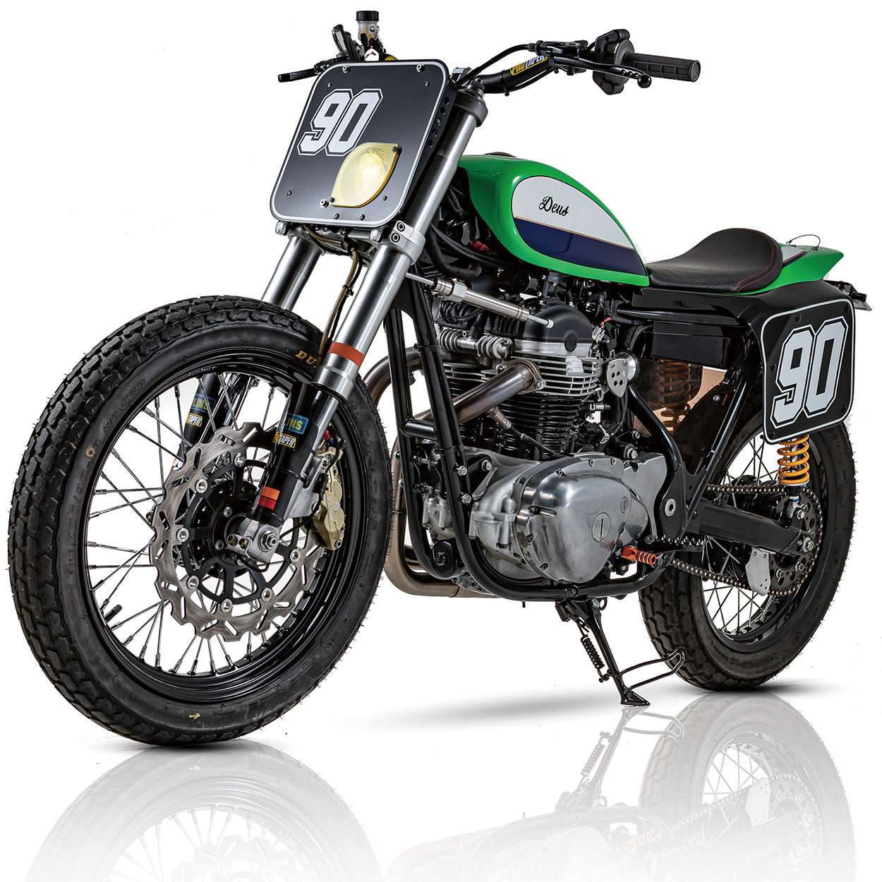 Kawasaki W800 street tracker by Deus and Crazy Garage