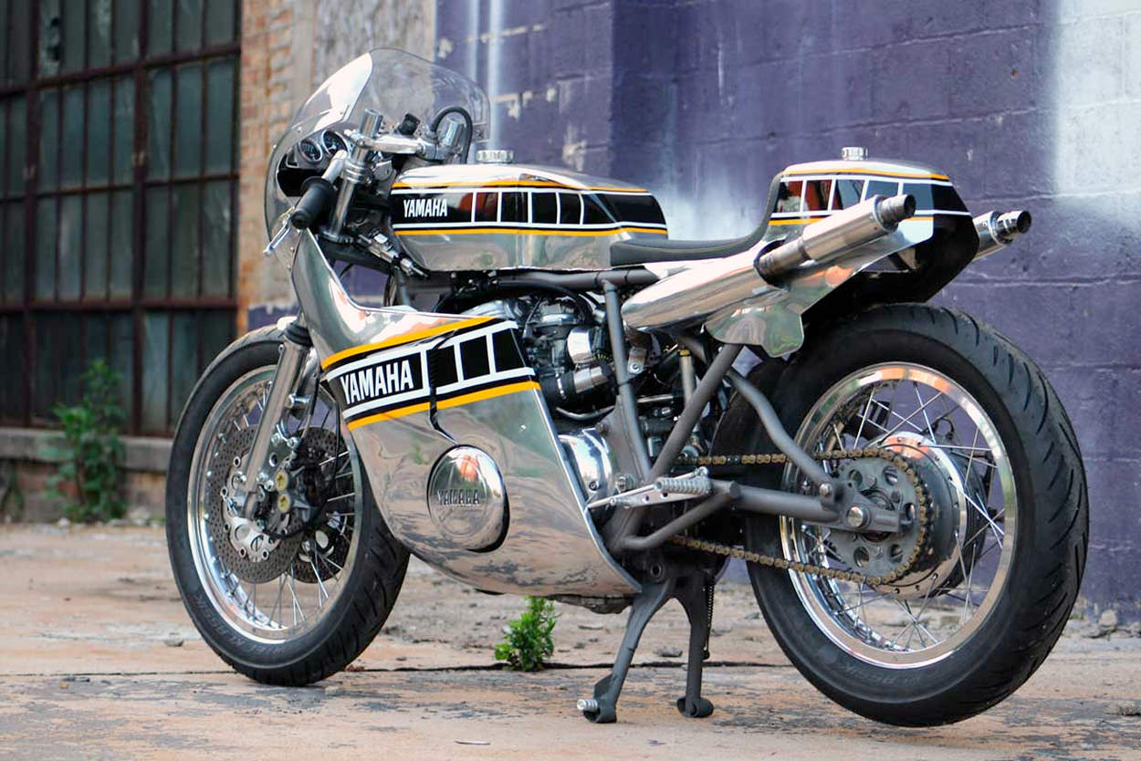 Yamaha TX750A cafe racer by Ron George