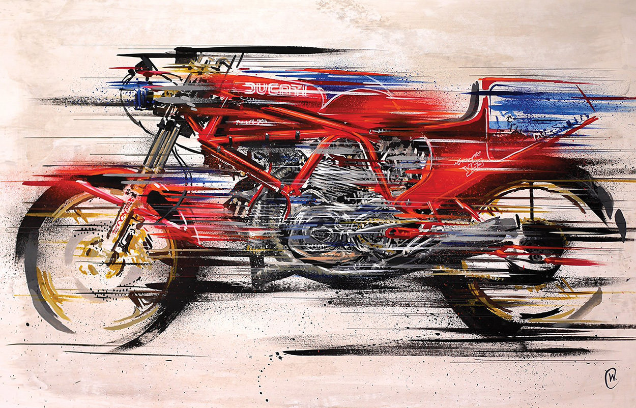 Motorcycle art by Chris White