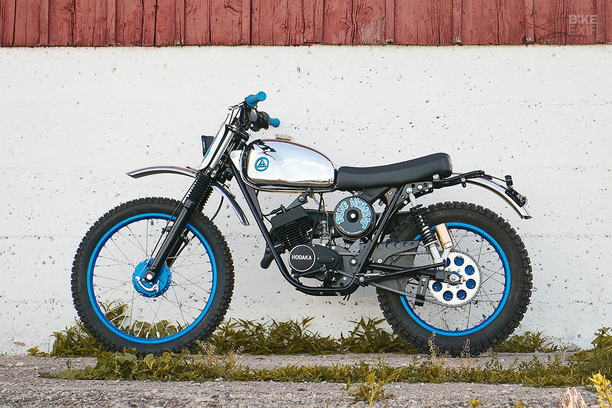 1973 Hodaka Wombat restomod by Analog Motorcycles