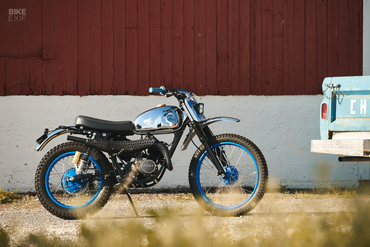 1973 Hodaka Wombat restomod by Analog Motorcycles