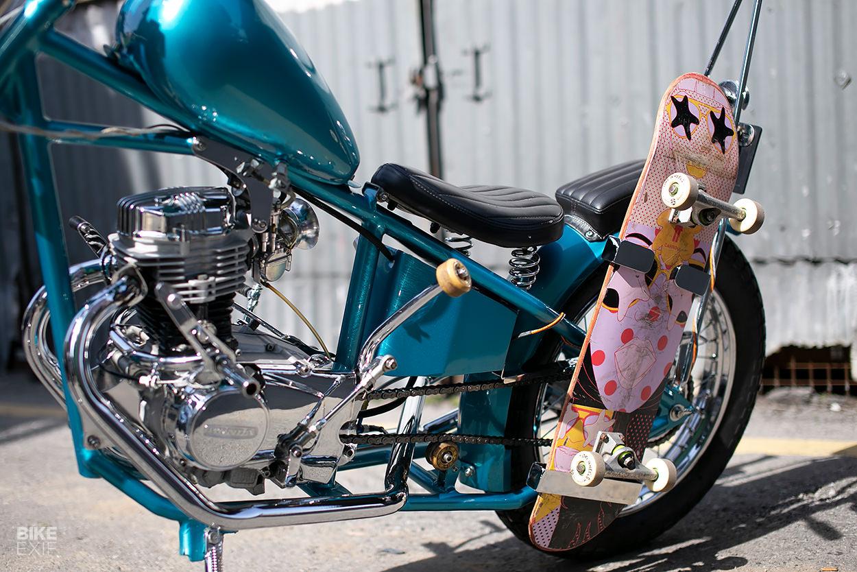 Honda CG110 mini chopper motorcycle