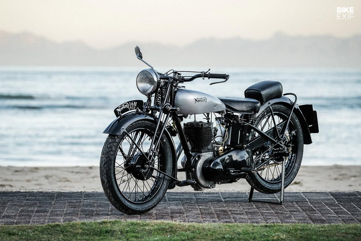 Restored Norton 16H featured in Iron & Air magazine