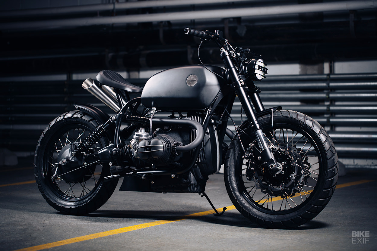 Custom BMW motorcycle built for the Chicago photographer Trashhand