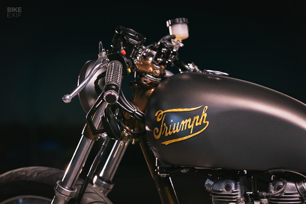 Canadian Cool: A Triumph Bonneville bobber by Origin8or Cycles