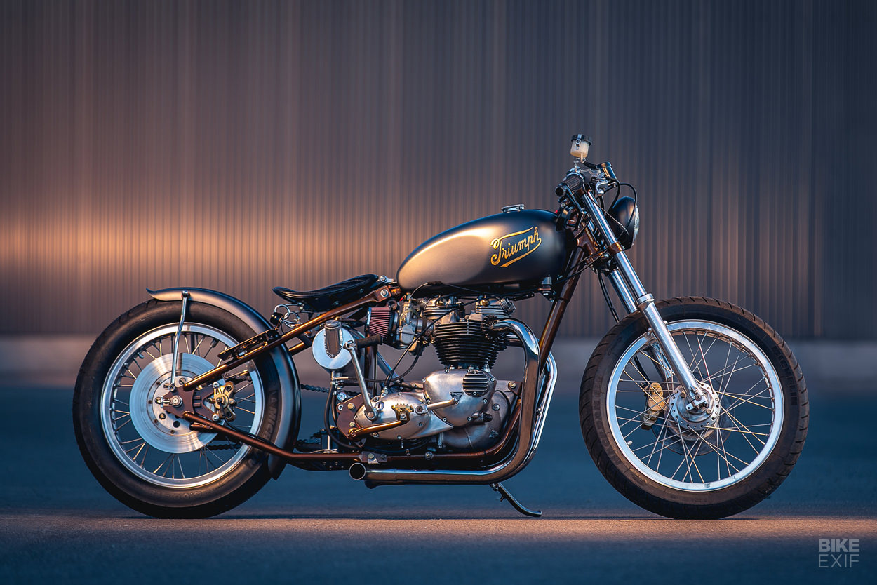 Canadian Cool: A Triumph Bonneville bobber by Origin8or Cycles