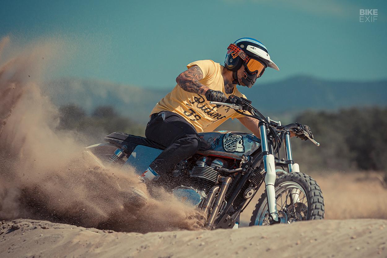Triumph Bonneville T100 scrambler by Maria Motorcycles