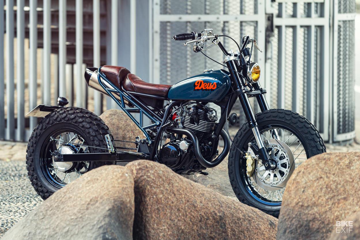 Custom Yamaha TW200 in the 'Suka-Tune' style by Deus Japan