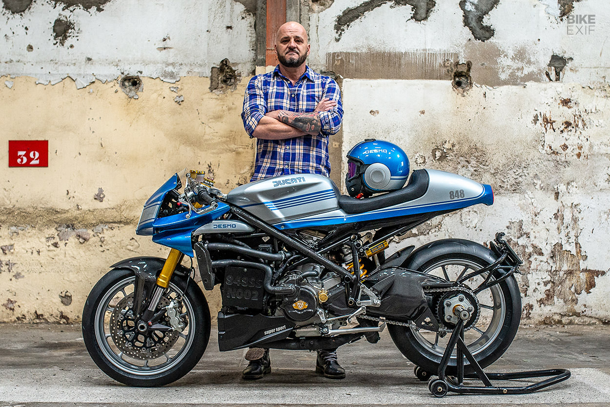 Ducati 848 cafe racer by JC Racing