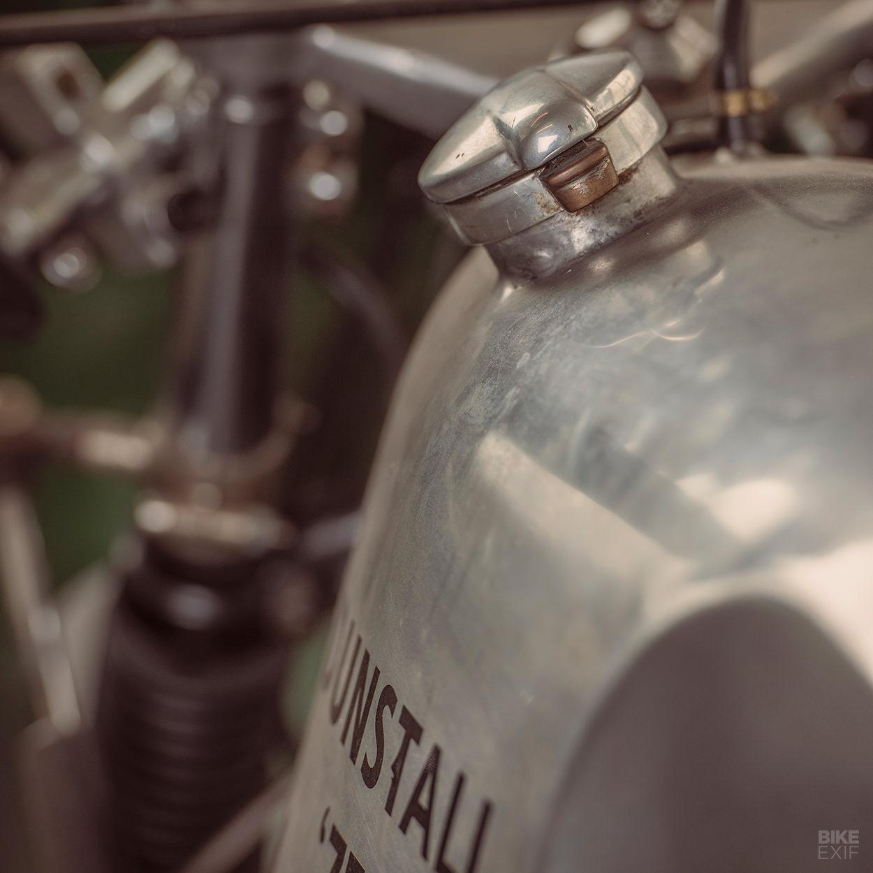 The rare Dunstall drainpipe Norton racing motorcycle