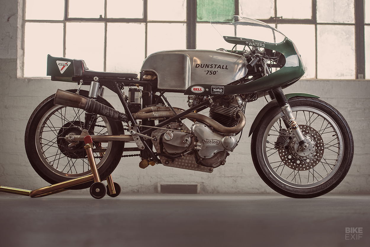 The rare Dunstall 'drainpipe' Norton racing motorcycle