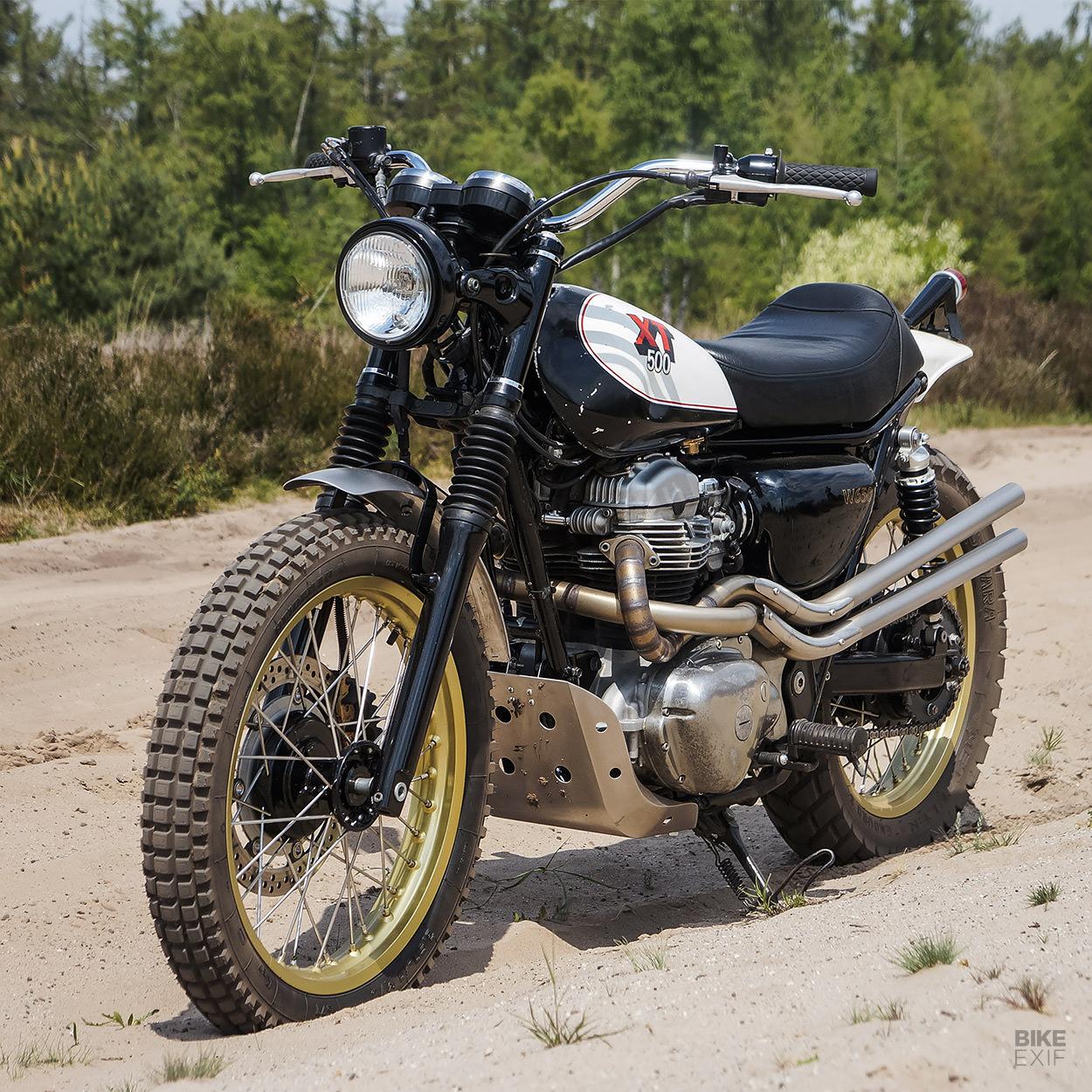 Custom Kawasaki W650 scrambler by Martin Schuurmans