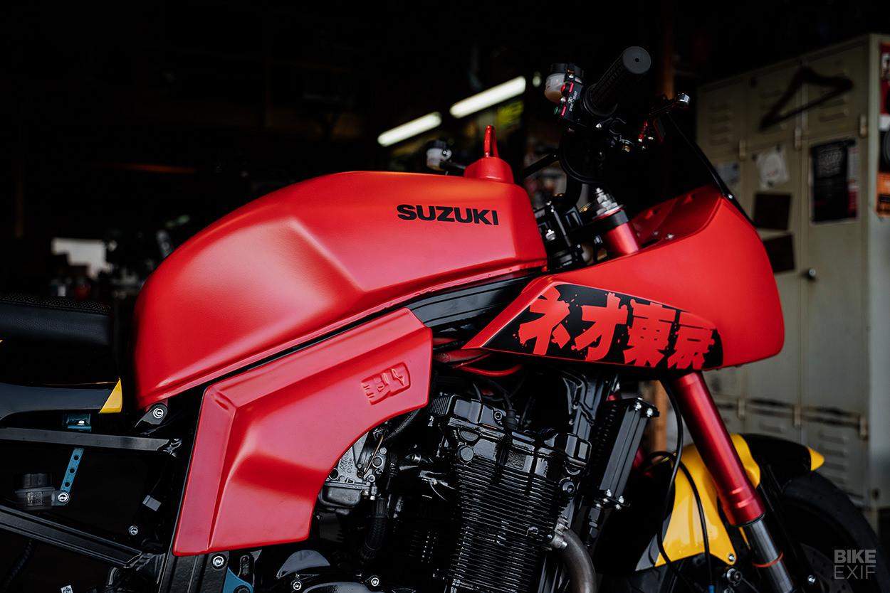 Custom Suzuki GSX-R750 slabby by Cool Kid Customs