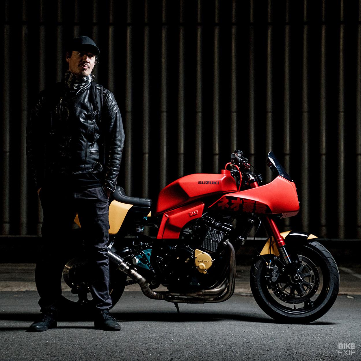 Michel Szozda and his custom Suzuki GSX-R750 slabby