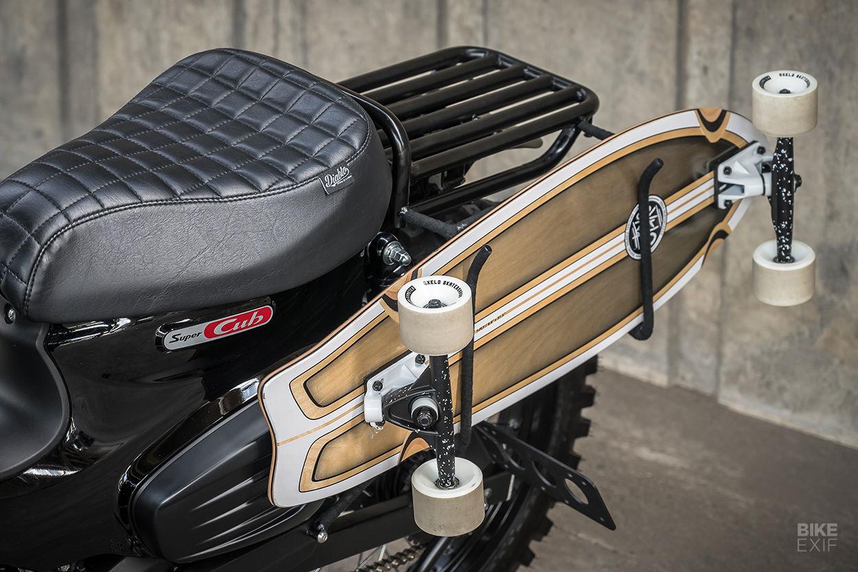 Honda Super Cub with a skateboard rack by K-Speed