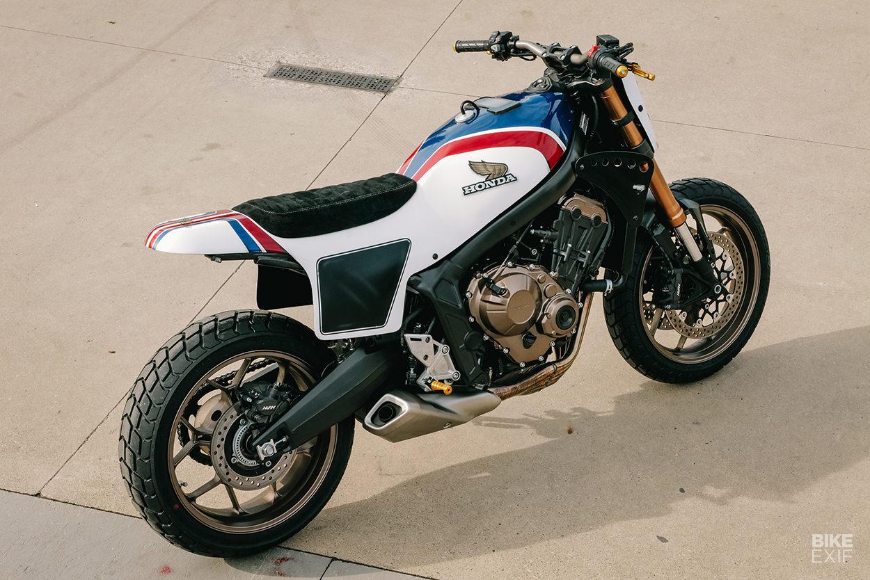 Honda CB650R street tracker by Kingston Custom