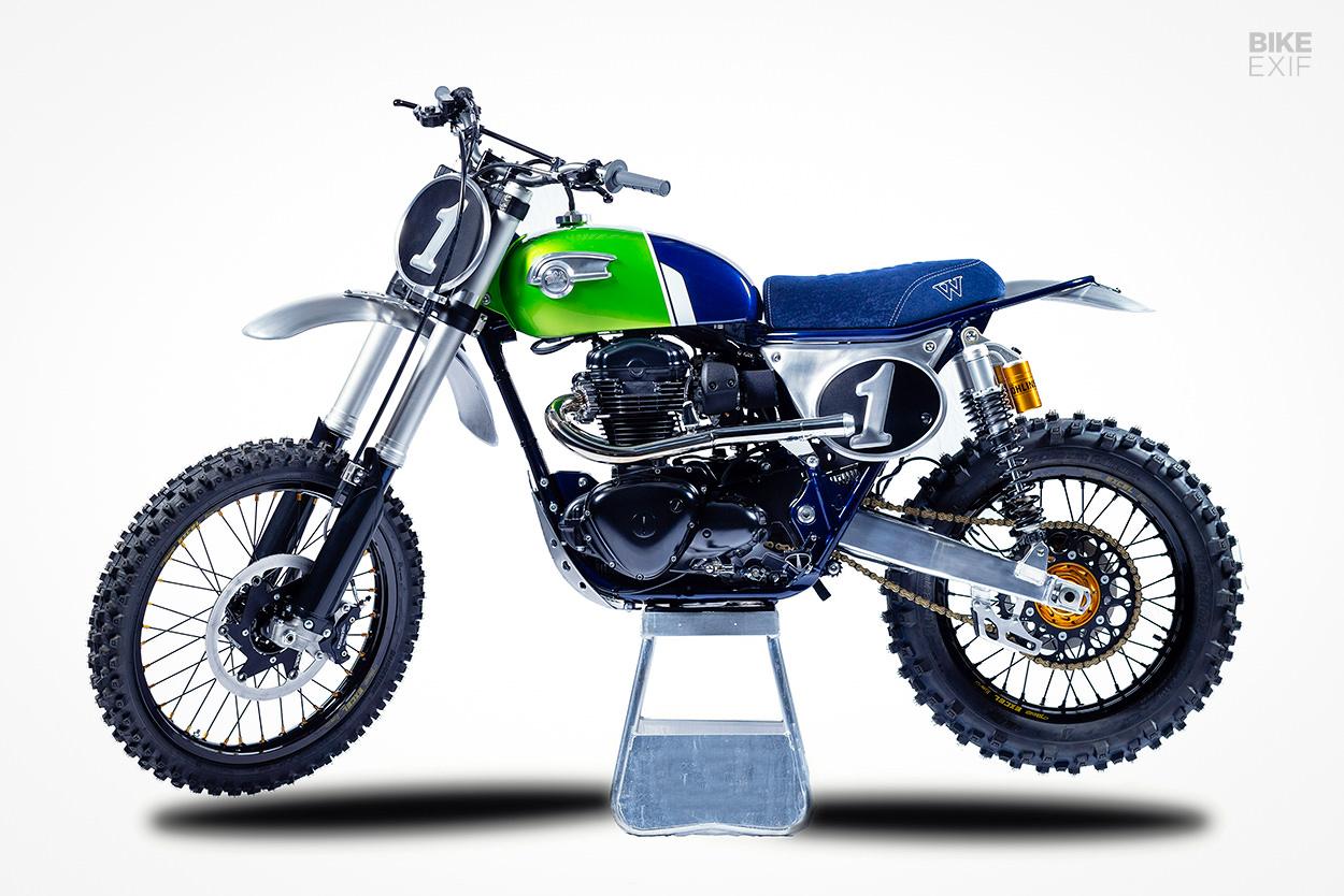 Kawasaki W800 vintage motocross bike by MRS Oficina
