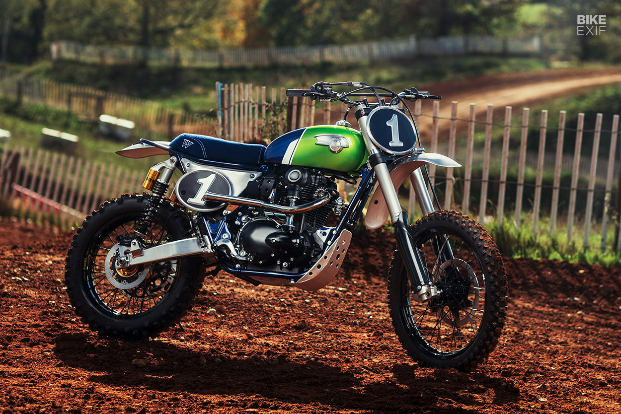 Kawasaki W800 vintage motocross bike by MRS Oficina