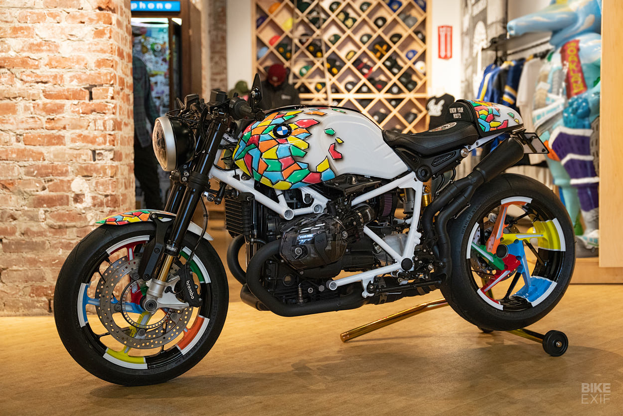 Custom BMW R-nineT built for the Oakland Roots soccer team