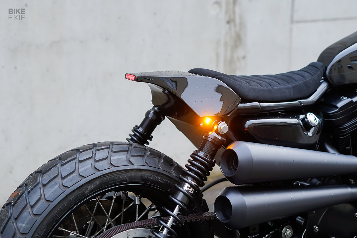 Harley Sportster street tracker by Crooked Motorcycles