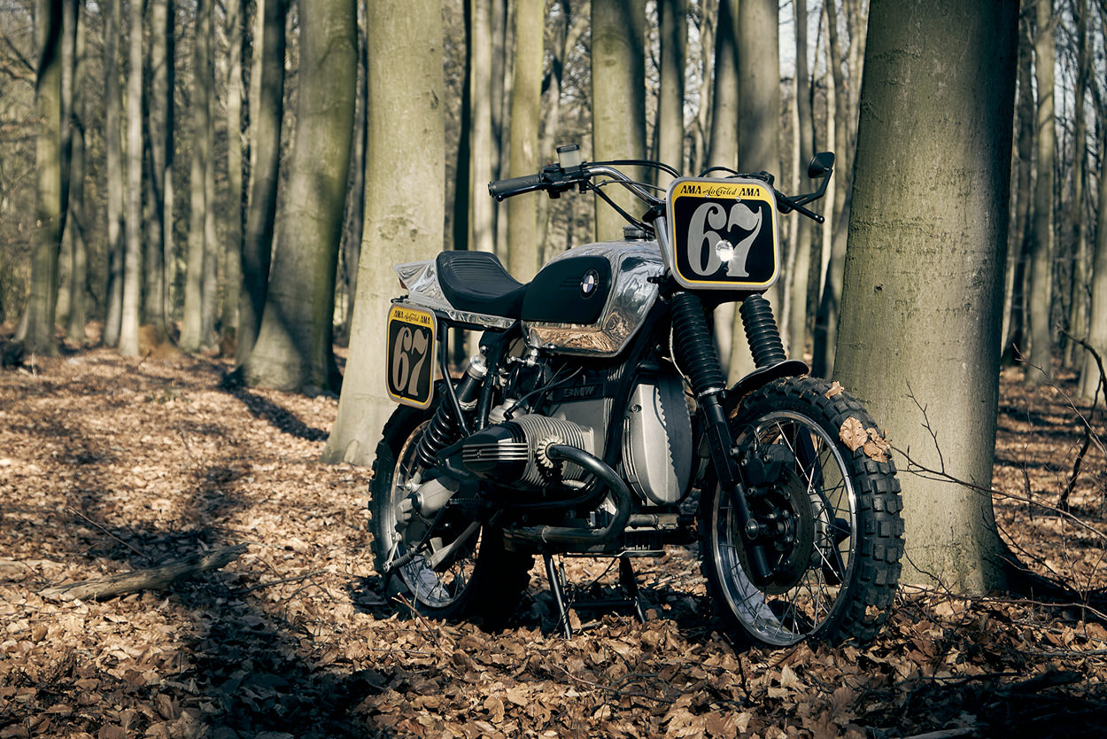 Custom BMW R100 GS by Cafemoto