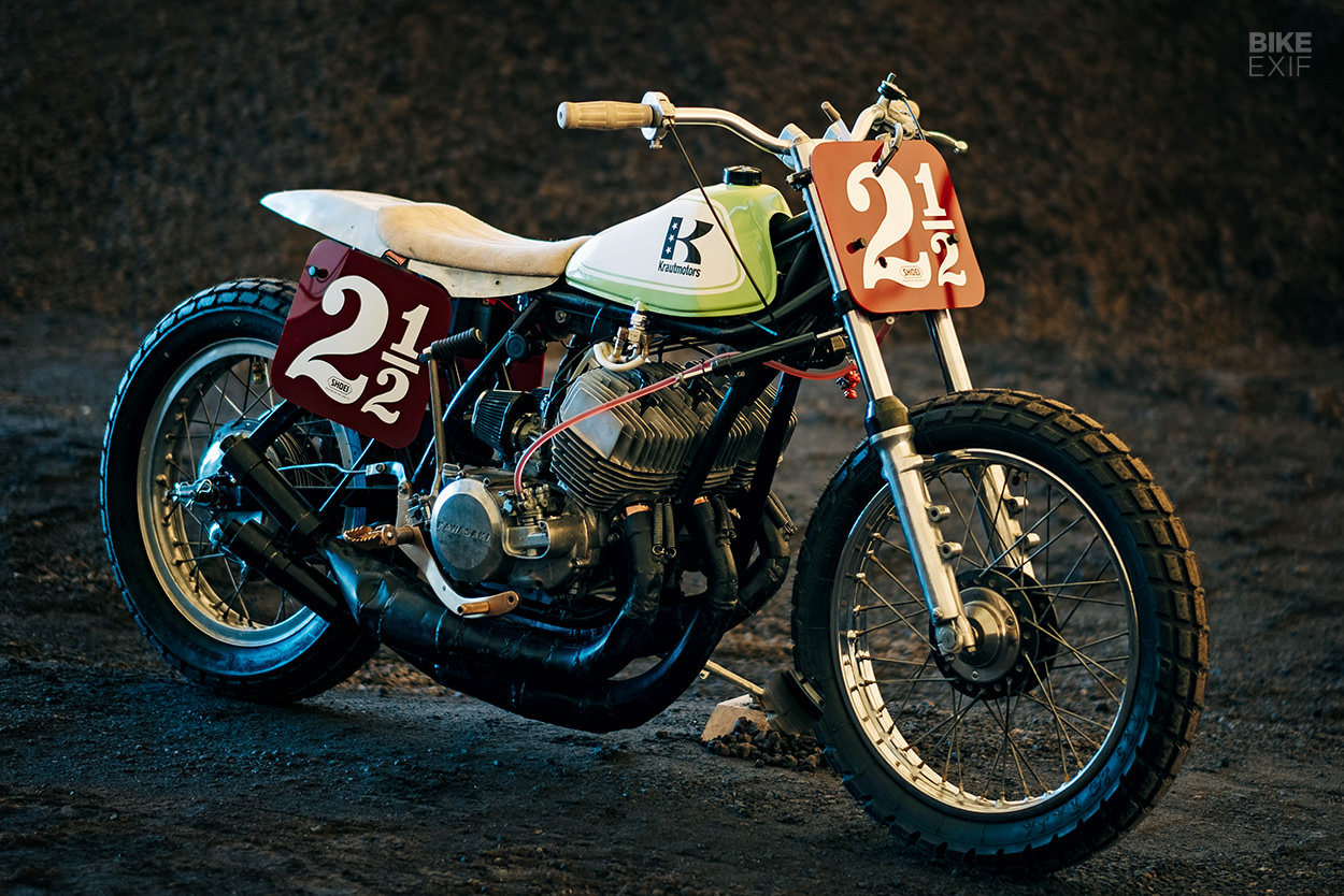 Kawasaki H1 flat tracker by Krautmotors