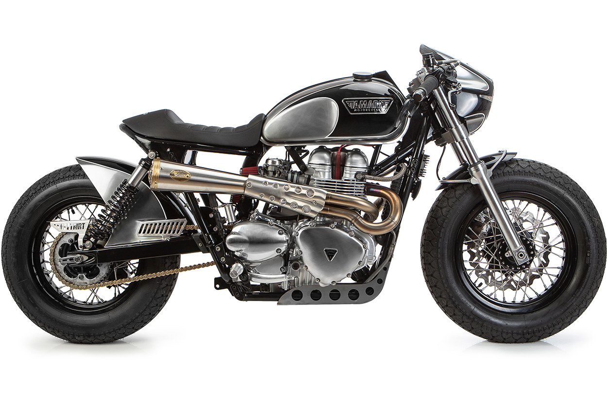 Rent or win this Triumph Bonneville cafe racer from Tamarit