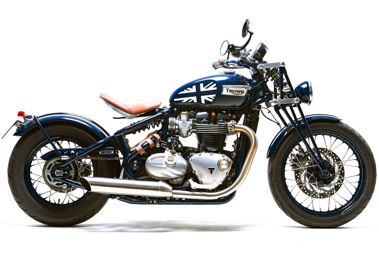 Custom Triumph Bonneville Bobber by Mandrill Garage