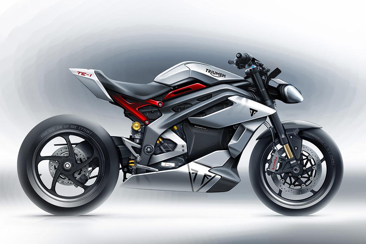 Triumph TE-1 electric motorcycle prototype