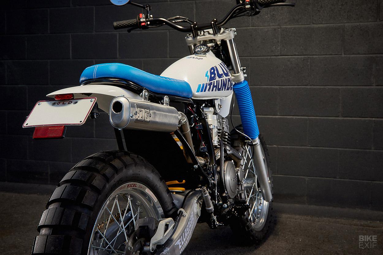 Yamaha TTR250 scrambler by Ellaspede