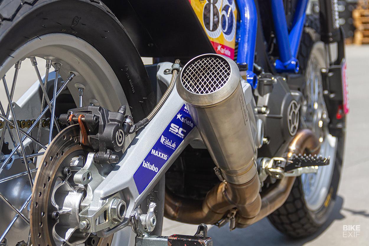 Ducati Scrambler flat tracker by Samy Garage and Greaser Garage