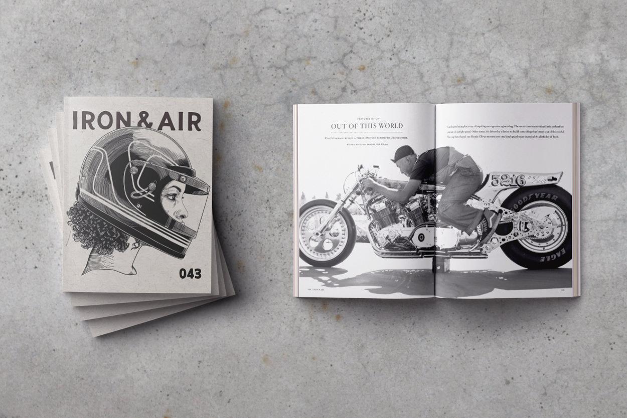 Iron & Air Magazine issue 43, featuring Kiyo's Garage