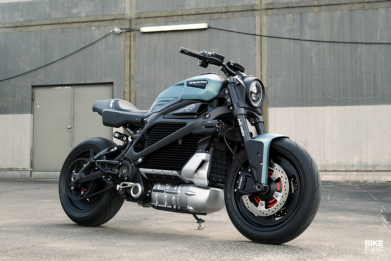 Custom Harley LiveWire electric motorcycle by JvB-moto