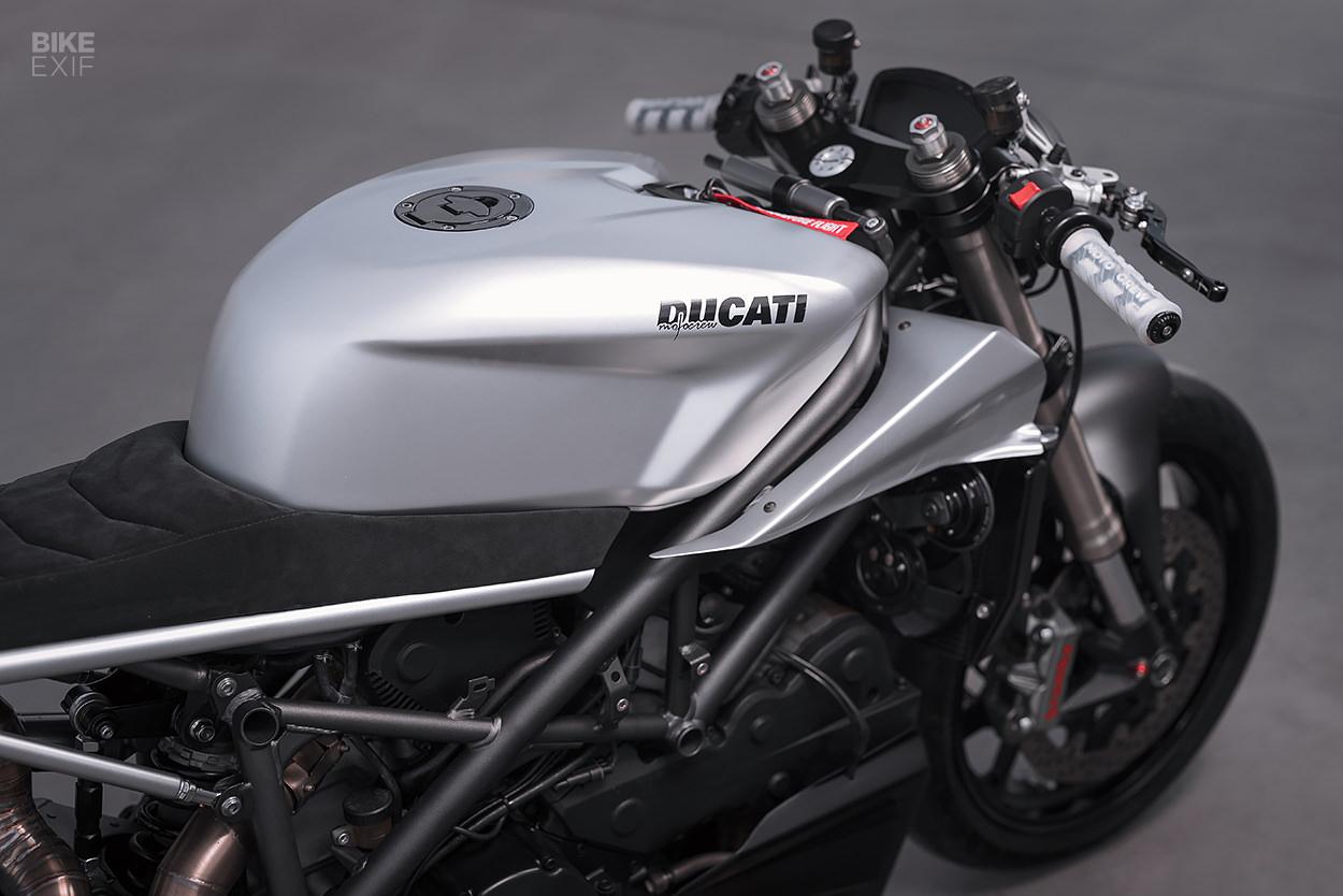 Custom Ducati 848 Evo cafe racer by Motocrew