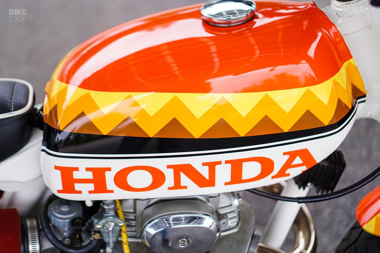 Custom Honda CB350 street scrambler by Miguel Castro