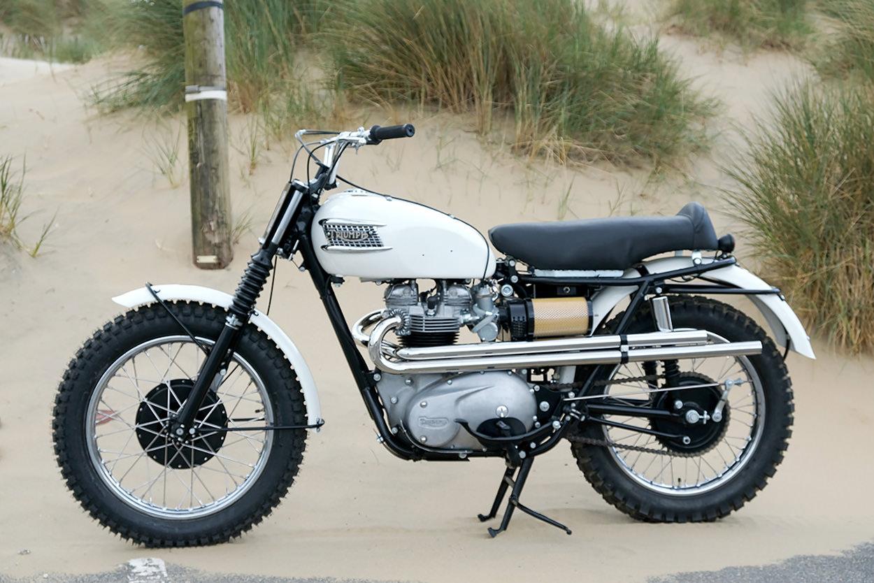 Triumph T120 Bud Ekins replica scrambler by Ace Classics