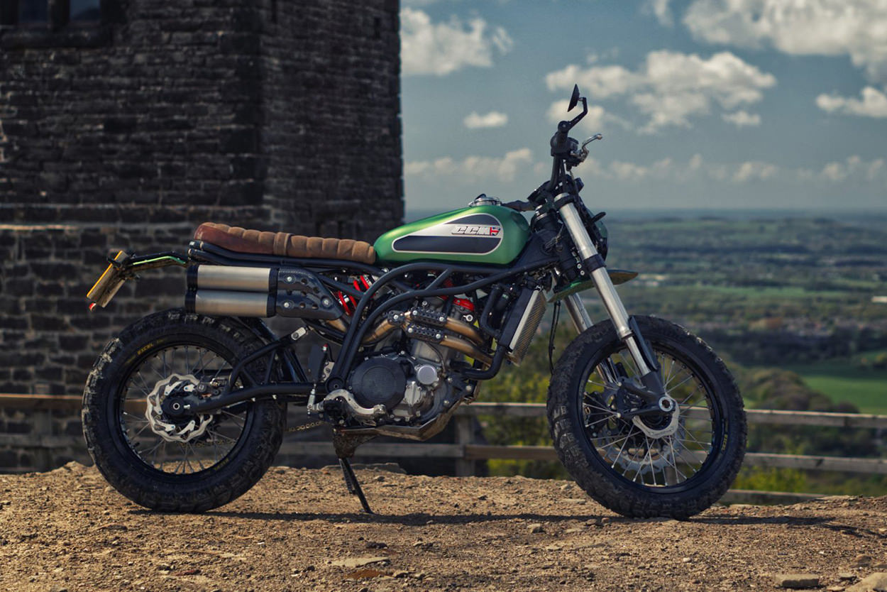 The new CCM Maverick 600cc scrambler