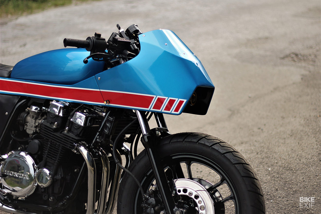Honda CBX750 police bike cafe racer by FNG Works