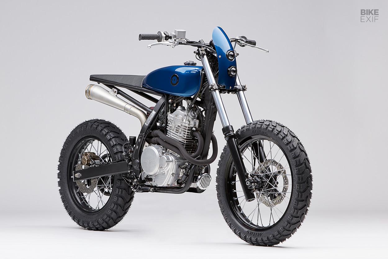 Honda NX650 Dominator scrambler by Earth Motorcycles